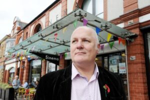 Chris Bond, general manager of Scala Cinema, Prestatyn, which could be forced to close (Credit: Daily Post Arwyn Roberts)